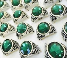Emerald Stainless Steel Rings for Men