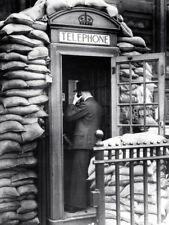 WW2 Photo, Battle of Britan Phone Booth  WWII UK  World War Two London England