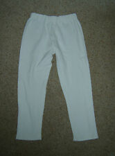 Cropped White Cotton Leggings Pants XS Period Pantomime Fancy Dress Costume Used