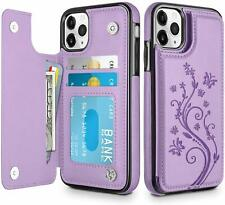 Leather Back Phone Case Shockproof Card Holder Cover For Samsung S20 Plus S10 S9