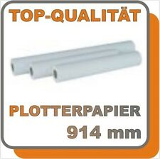"""PLOTTERPAPIER INKJET 80g 914mm 50m OPAK 36"""" INKJETPAPIER 91,4 A0 Papier 80gr"""