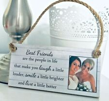 PERSONALISED PHOTO FRIENDSHIP QUOTE CUSTOM TEXT PLAQUE SIGN FOR BEST FRIEND GIFT