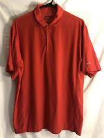 Nike Mens Medium Polo Golf Tour Performance Dri Fit Red Shirt Stretchy