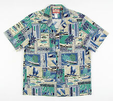 New RJC Made In Hawaii 100% Cotton Hawaiian Aloha Camp Shirt XL