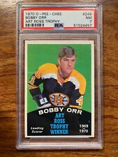 1970-71 O-PEE-CHEE BOBBY ORR #249 Art Ross Trophy PSA 7 NM OPC BRUINS 1970