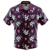 Manly Sea Eagles NRL 2021 Tribal Hawaiian Shirt Button Up Polo Shirt Sizes S-5XL