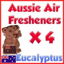 Car Air freshener home truck deodoriser Eucalyptus scent quad pack 4 in 1