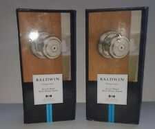 Baldwin Prestige Alcott Door Knob in Satin Nickel for Bed/Bath 93530-006 2 sets