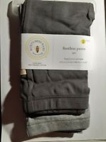 BURTS BEES BABY PANTS 12M GRAY LIGHT GRAY  TWO PAIRS