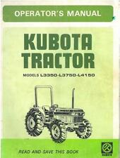 KUBOTA TRACTOR - MODELS L3350 L3750 L4150 OPERATORS MANUAL