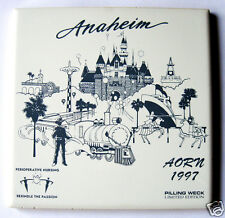 Ceramic Tile Souvenir for AORN 1997 Anaheim CA Pilling Weck Ltd Edition