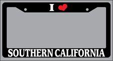 "Black License Plate Frame ""I Heart Southern California"" Auto Accessory Novelty"