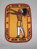 VINTAGE BSA BOY SCOUT PATCH 1969 TEN MILE RIVER SCOUT CAMPS NEW YORK COUNCIL