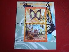 MALAWI: 2008 BUTTERLIES & DINOSAURS I - MINISHEET UNMOUNTED USED MINIATURE SHEET