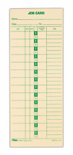 """TOPS Job Cards Replaces L-61, 15-800622, 1-Sided, 3-1/2"""" x 9"""", Manila, Green"""