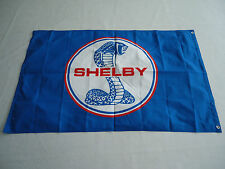 New Car Racing Banner Flags 3x5FT for Shelby Cobra Flag Blue Free Shipping