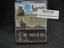 Spartacus / Harvey / Touch of Evil - 3 movie collection - Brand New