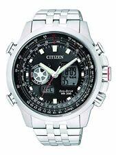 Citizen Herren Armbanduhr XL Promaster Sky Analog Digital Quarzwerk Edelstahl