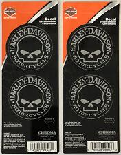 Harley-Davidson Willie G Skull 2 sheets of Stickers Decals Stick Onz NEW
