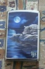 More details for animals lisa parker sleeping wolf zippo lighter free p&p free flints