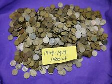 Lot of 1400 Mixed Teen Dates 1909 - 1919 Lincoln Wheat Cents Pennies!!