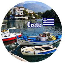 CRETA - GRECIA - BANDIERA / VISTE - ROTONDO NEGOZIO DI Souvenir