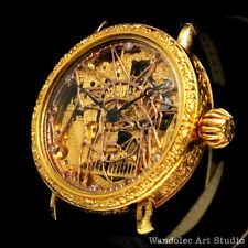 Noble Design Mens Wristwatch Skeleton with VINTAGE RESTORED MOVEMENT by Longines