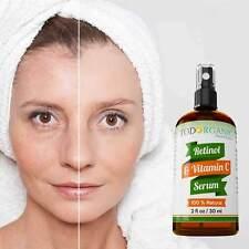 Pure Retinol with Vitamin C Anti Aging Wrinkle Acne Facial Face Serum-Todorganic