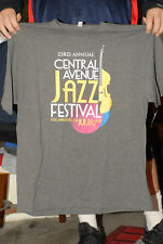 Central Ave Jazz Festival 2018 Los Angeles T Shirt West Coast Jazz Xl Mint-