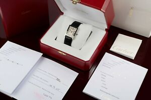 New Must De Cartier Paris Watch Box Case Genuine Red Leather Full Set Women Gift