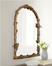 Plaza Arch Bird Branch Large Wall Mirror 37� Mantle Vanity Tuscan Aged Gold Leaf