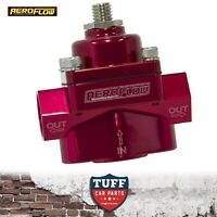 "Aeroflow Red Billet 2 Port Carby Fuel Pressure Regulator FPR 1 - 4 PSI 3/8"" NPT"
