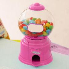 Kids Candy Dispenser Machine Gumball Gum Ball Snacks Coin Storage Box Gift Pink