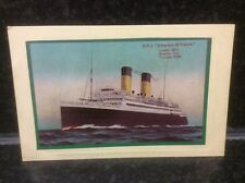17. RMS Empress of France Colour Postcard