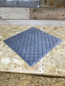 NEW Ashley Manor silver grey velvet quilted scatter cushion cover ribbed