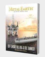 Metal Earth Off Shore Oil Rig & Oil Tanker 3D Laser Cut Model Box Set MMG105
