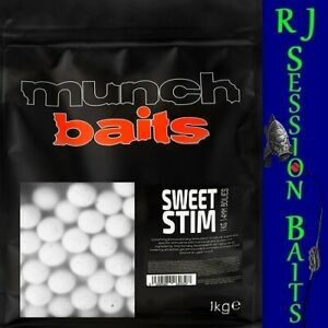 Munch Baits Sweet Stim 14mm Session Pack of 25 Boilies