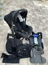 New ListingDoona Infant Car Seat & Latch Base With Diaper Bag + Travel Bag + Cup Holder