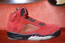 "Nike Air Jordan 5 V Retro ""Raging Bull Red Suede"" 136027 601 Size 13 OG ALL"