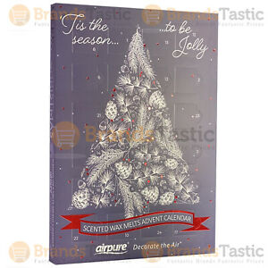 AIRPURE 24 SCENTED WAX MELTS ADVENT CALENDAR CHRISTMAS TREE BLUE GIFT PACK