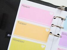 Personal size planner inserts refill week on two pages filofax day-timer kikki k