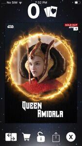 Topps Star Wars Digital Card Trader Laser Motion Queen Amidala Insert