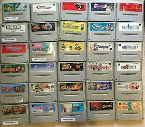 Super Famicom Japanese SNES games Zelda Mario Kart Mother 2 FF Donkey Kong Kirby