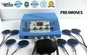 Portable Electronic 4Ch Electrotherapy Physical Therapy Machine Sticky pads 04-A