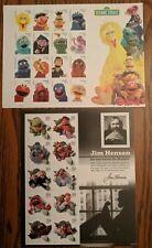 #3944 MUPPETS & #5394 SESAME STREET Set of 2 Mint Stamp Sheets PBS JIM HENSON