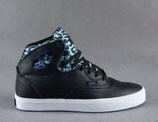 Vans Bushwick Leopard Camo Black/Mint Men's OTW Hi Top Skate Shoes Size 11.5