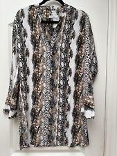 Equipment Silk Snake Print Shirt Dress Size Small