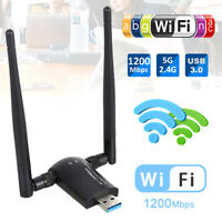 ADATTATORE USB PC WIFI 1200 MBPS ANTENNA CHIAVETTA WIRELESS Internet WIFI DONGLE