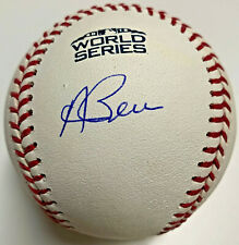 Red Sox Andrew Benintendi Signed 2018 World Series Basebll MLB + Fanatics Holo