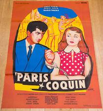 Affiche du film PARIS COQUIN (PARIS CANAILLE) - DANIEL GÉLIN, DANY ROBIN 120X160